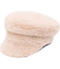 ruslan baginskiy fox fur baker boy cap