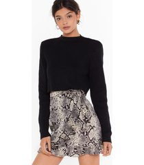 womens snake yourself at home wrap mini skirt - grey