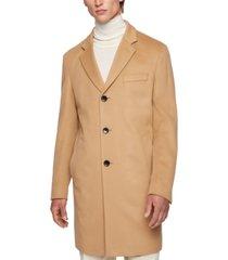 boss men's slim-fit cashmere coat