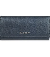 valentino by mario valentino designer wallets, marilyn metallic grainy eco leather flap wallet