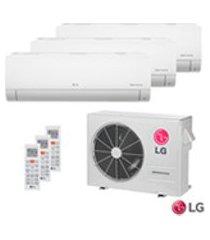 ar condicionado multi split inverter lg com 2 x 8.500 btus + 1 x 11.900 btus, quente e frio, turbo, branco - amnw09gsja0