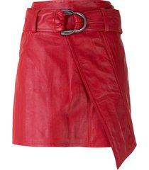 andrea bogosian saransk leather mini skirt - red