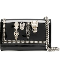 philipp plein embellished studded clutch - black