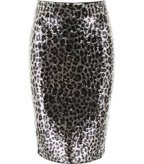 michael michael kors animalier sequins skirt