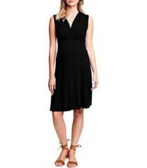women's maternal america sleeveless empire waist maternity dress
