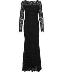 dress ls maxi dress galajurk zwart rosemunde