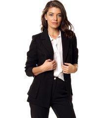 blazer negro mia loreto lisa