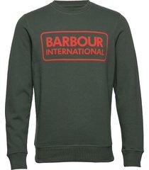 b.intl large logo sweat sweat-shirt tröja grön barbour