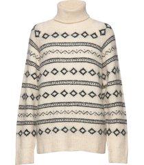 enbeech ls knit 5216 turtleneck polotröja creme envii