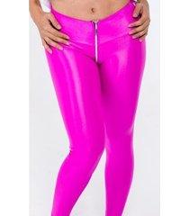 calça legging fuseau cirré ziper feminina