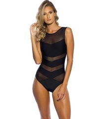 body kalini beachwear tule exclusive preto