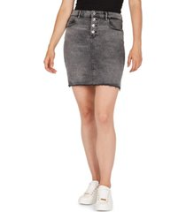 numero button-fly denim pencil skirt