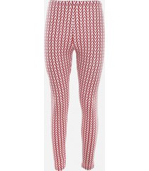 valentino stretch jersey leggings with all-over optical valentino motif