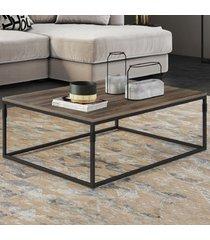 mesa de centro aline amêndoa negra/preto - novabras