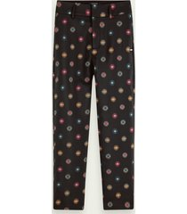 scotch & soda pantalon met sterrenmotief | mid rise