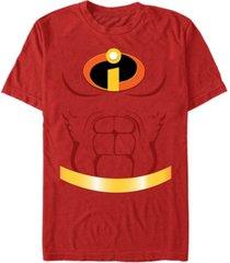 disney pixar men's incredibles chest costume short sleeve t-shirt
