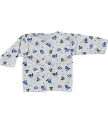 camiseta manga larga estampado castores azules santana