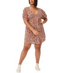 cotton on trendy plus size woven miranda mini tea dress