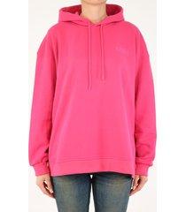ganni software fuchsia hoodie