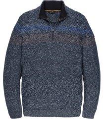 vanguard trui donkerblauw melange rits