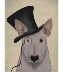 "fab funky bull terrier, formal hound and hat canvas art - 36.5"" x 48"""