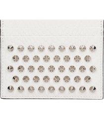 christian louboutin kios wallet in white leather