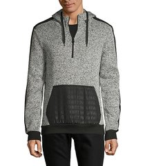 heathered quarter-zip hoodie