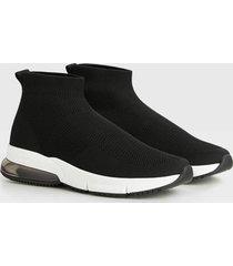 sokschoen high-top sneaker met gaasstof