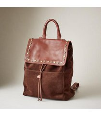 sundance catalog women's simplicity embellished backpack in chocolate