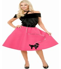 buy seasons women's poodle skirt, top and scarf costume