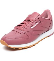 zapatilla cl leather mu burdeo reebok