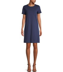 pure navy women's pocket tee dress - olive - size s