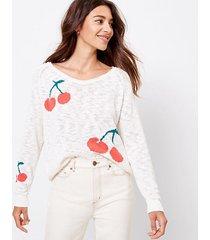loft petite lou & grey cherry sweater
