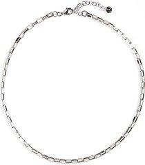 halogen box chain collar necklace