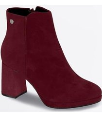ankle boot vizzano nobuck salto alto feminina