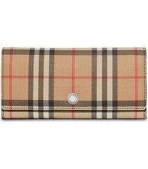 burberry vintage check continental wallet - multicolour