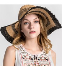 vogue large palpus large brim beach cap casual summer visor cappello di paglia da sole
