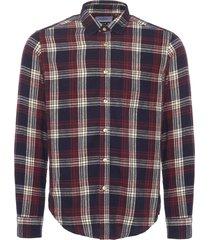 portuguese flannel campanhã check navy flannel shirt 2015102