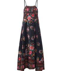 maxi vestito smanicato floreale