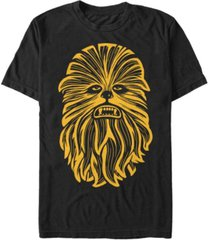 star wars men's classic chewbacca face short sleeve t-shirt