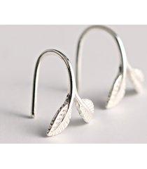 orecchini in argento sterling 925 orecchini pendenti in argento a forma di foglia d'argento per le donne