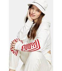illinois hoodie in white - white