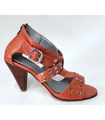 sandalia de cuero coral tamara shoes