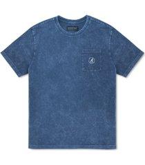 kangol men's acid wash t-shirt