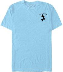 fifth sun disney princesses men's the little mermaid ariel silhouette left chest logo short sleeve t-shirt