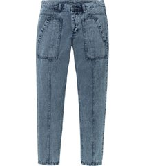 jeans loose fit in cotone biologico tapered (blu) - rainbow