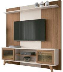 estante home painel para tv até 60 pol. marchê nature/off white - hb móveis