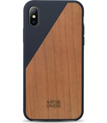 clic wooden iphone x case - marine/cherry