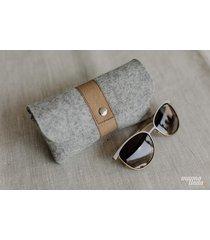 marmollada - etui filcowe na okulary szare + b