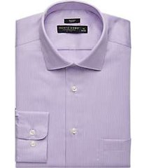 pronto uomo purple stripe slim fit dress shirt